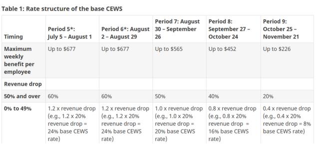 New CEWS Program